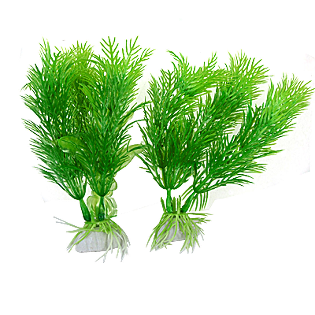 2Pcs Green Plastic Hottonia Inflata Plants Ornament for Aquarium Fish Tank