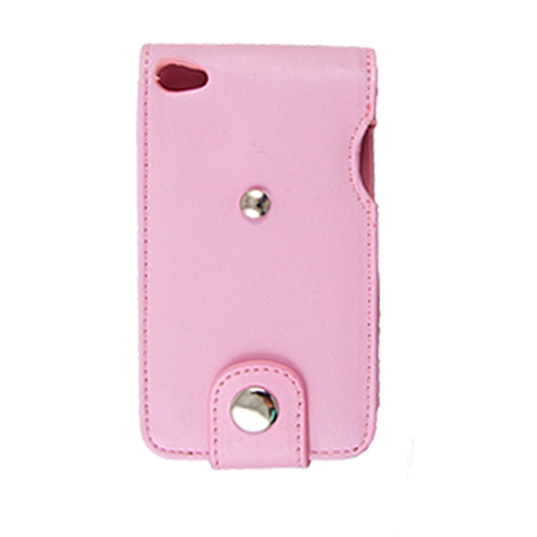 Pink Faux Leather Pouch w Holder Clip for iPod Touch 4G