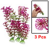 3Pcs Purple Green Plastic Hottonia Inflata Plants Ornament for Aquarium