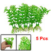 Green Plastic Hottonia Inflata Plants Aquarium Fish Tank Decoration 5Pcs