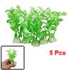 5Pcs Green Plastic Leaf Artificial Plants Decoration for Aquarium Fish Tank