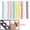 10Pcs Colorful Plastic Cable Markers Wire Cord Labels