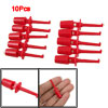 Red Multimeter Lead Wire Test Hooks Clip Set 10 Pcs