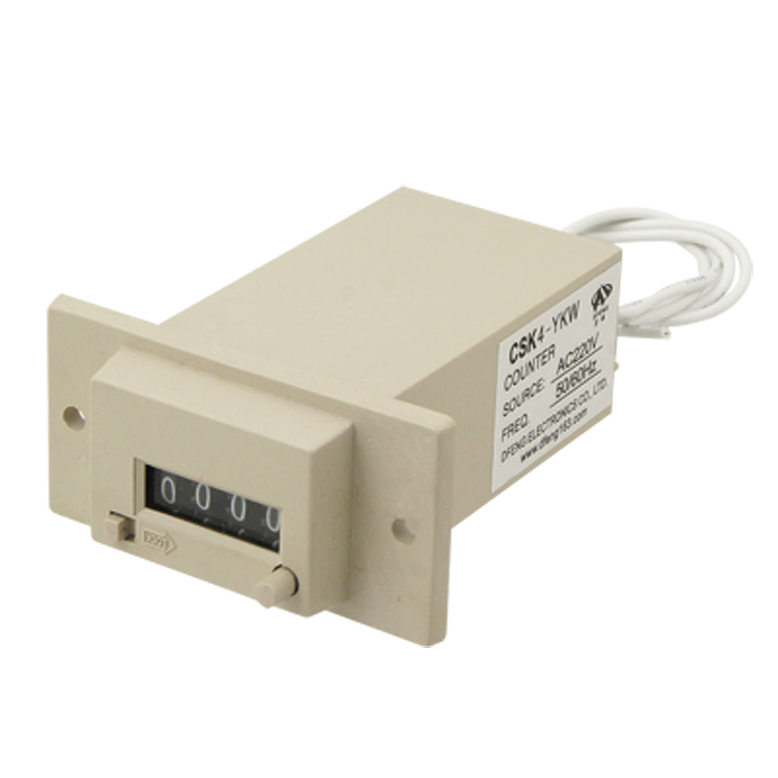 AC 220V CSK4-YKW 4 Digits Electromagnetic Counter