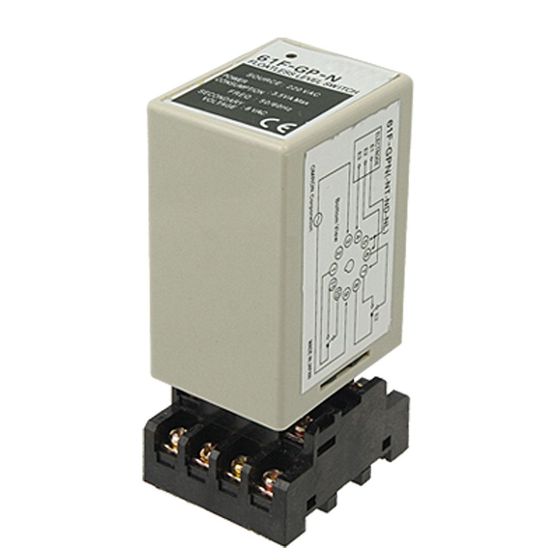 61F-GP-N AC 220V Floatless Liquid Level Controller Switch w Socket