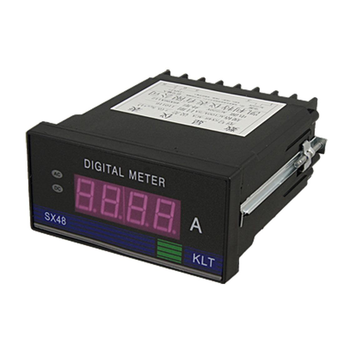 AC 100A 3 1/2 Red LED Display Current Ampmeter Panel Meter Gauge