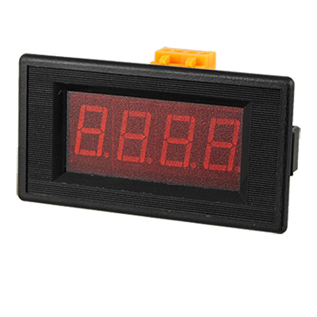 DC 5V 3 1/2 Red LCD Digital Ammeter Current Panel Meter