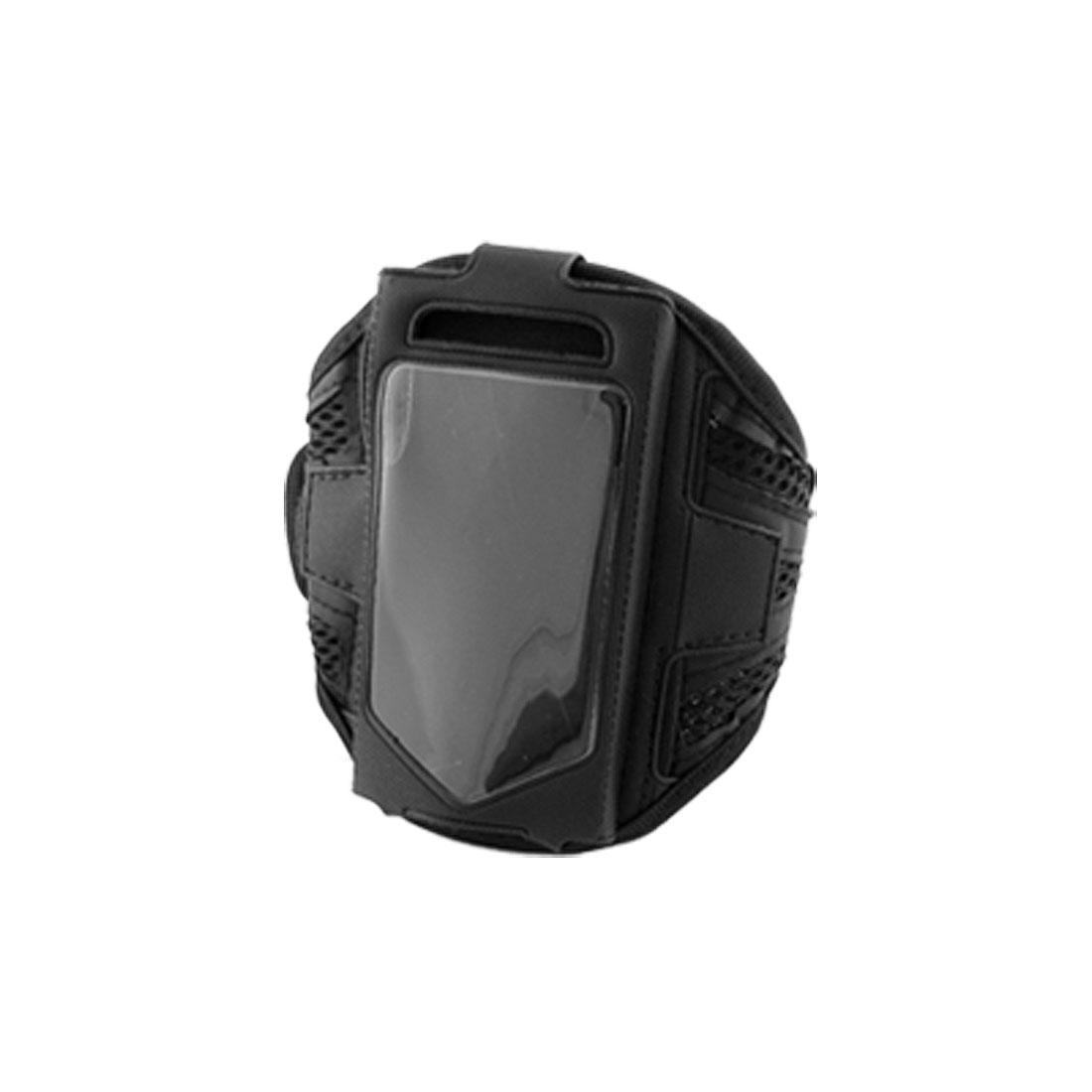 Black Mesh Sports Adjustable Armband Holder for Phone 4G