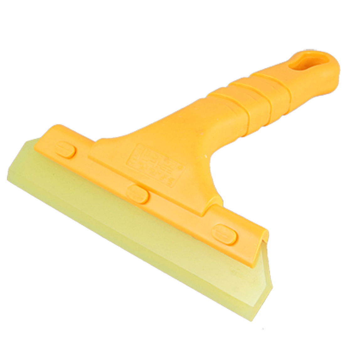 Yellow Nonslip Handle Film Sticker Cleaning Scraper for Car Auto