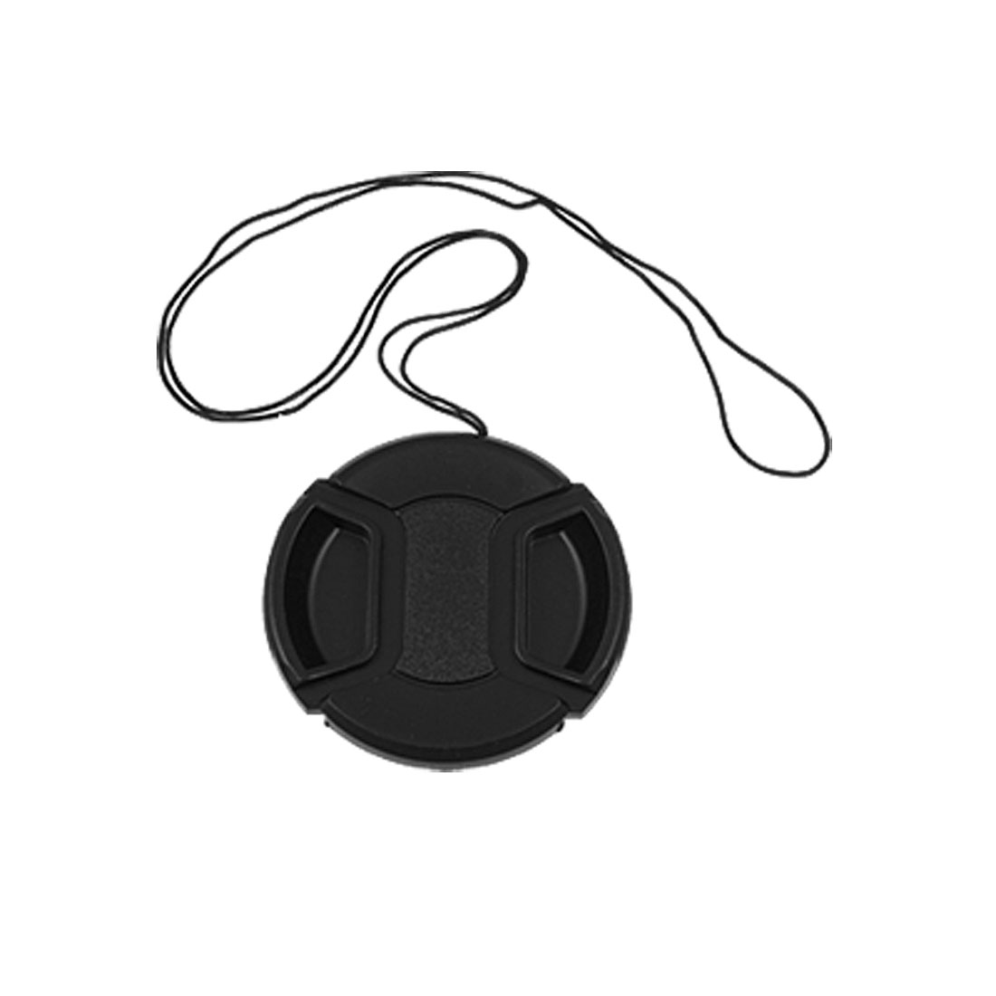 Double-action Spring Tabs 58mm Black Plastic Lens Cover