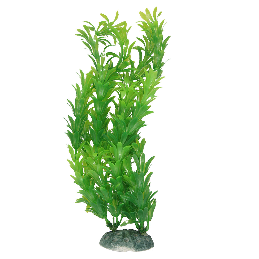 25cm Height Green Plastic Grass Underwater Decor for Fish Tank