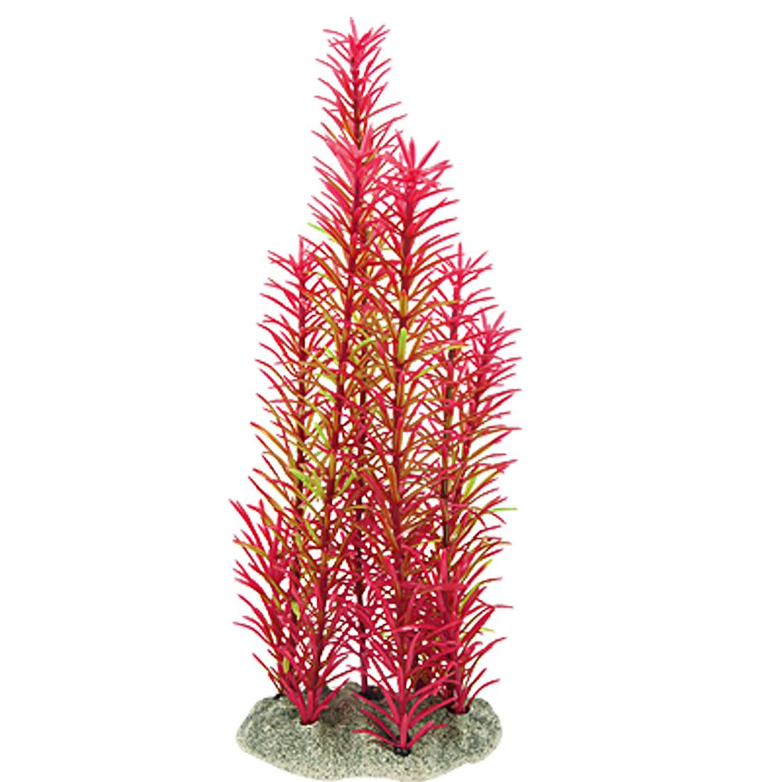 Fish Tank 22cm Height Red Green Underwater Grass Plants Ornament