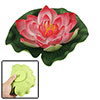 Fish Tank Aquascaping Lotus Ornament Red Green Decor