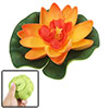 Small Size Foam Lotus Ornament Orange Green for Aquarium