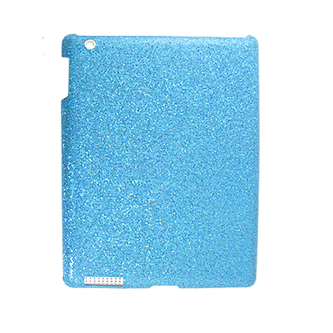 Sky Blue Hard Plastic Glittery Back Caase for iPad 2G