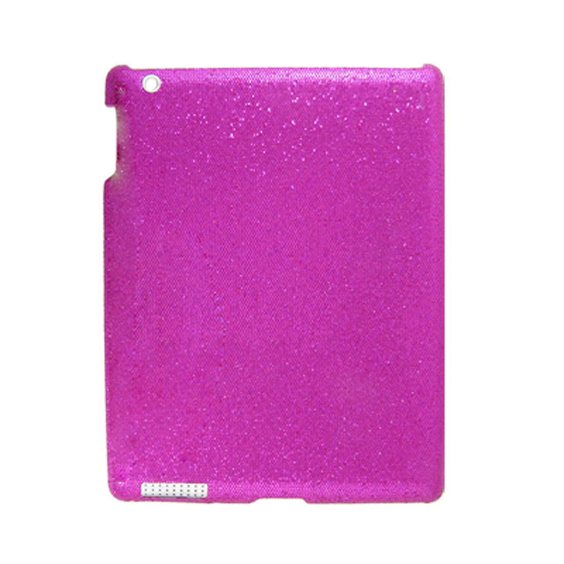 Magenta Hard Plastic Faux Leather Coated Glittery Back Case for iPad 2G