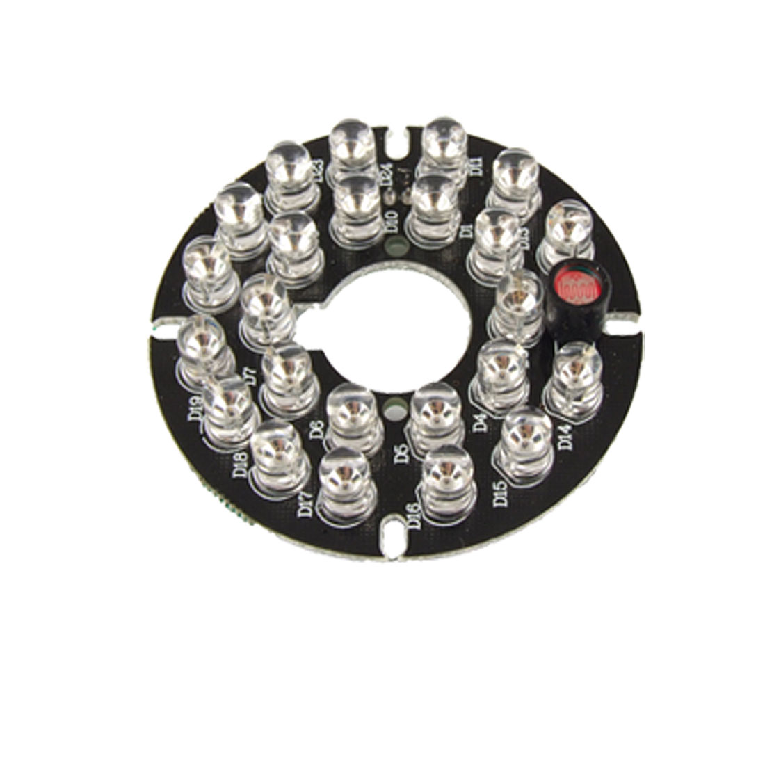 CCTV CCD Camera 5mm 24-LED Infrared Bulbs IR Board Plate