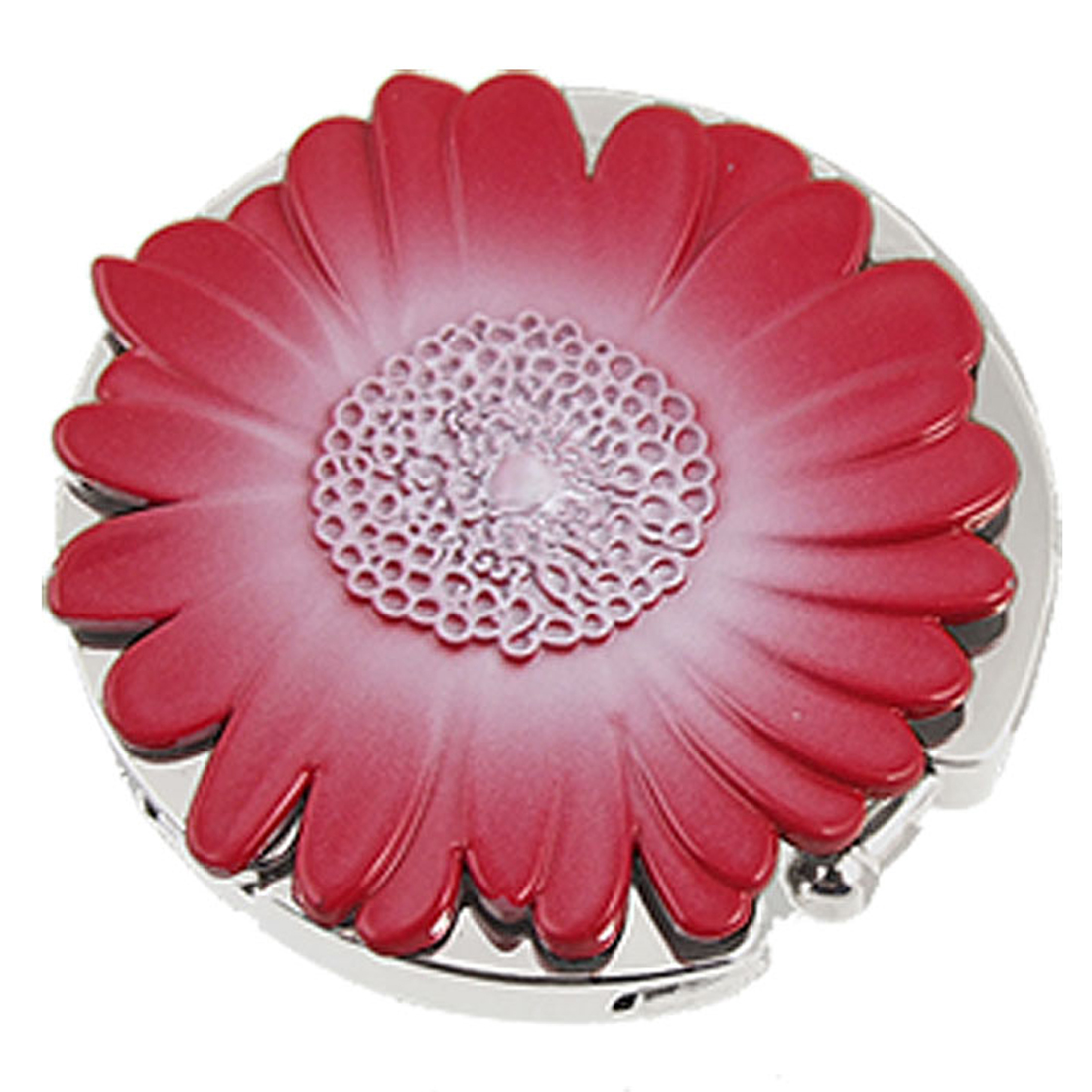 Lady Red Daisy Design Round Folding Hook Purse Hanger