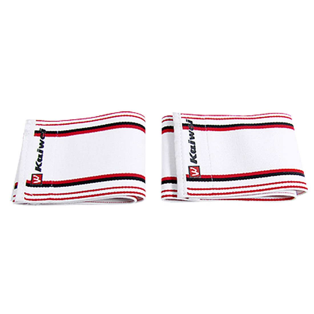 2 Pcs Detachable Closure Black Red Stripe Sports Wrist Support