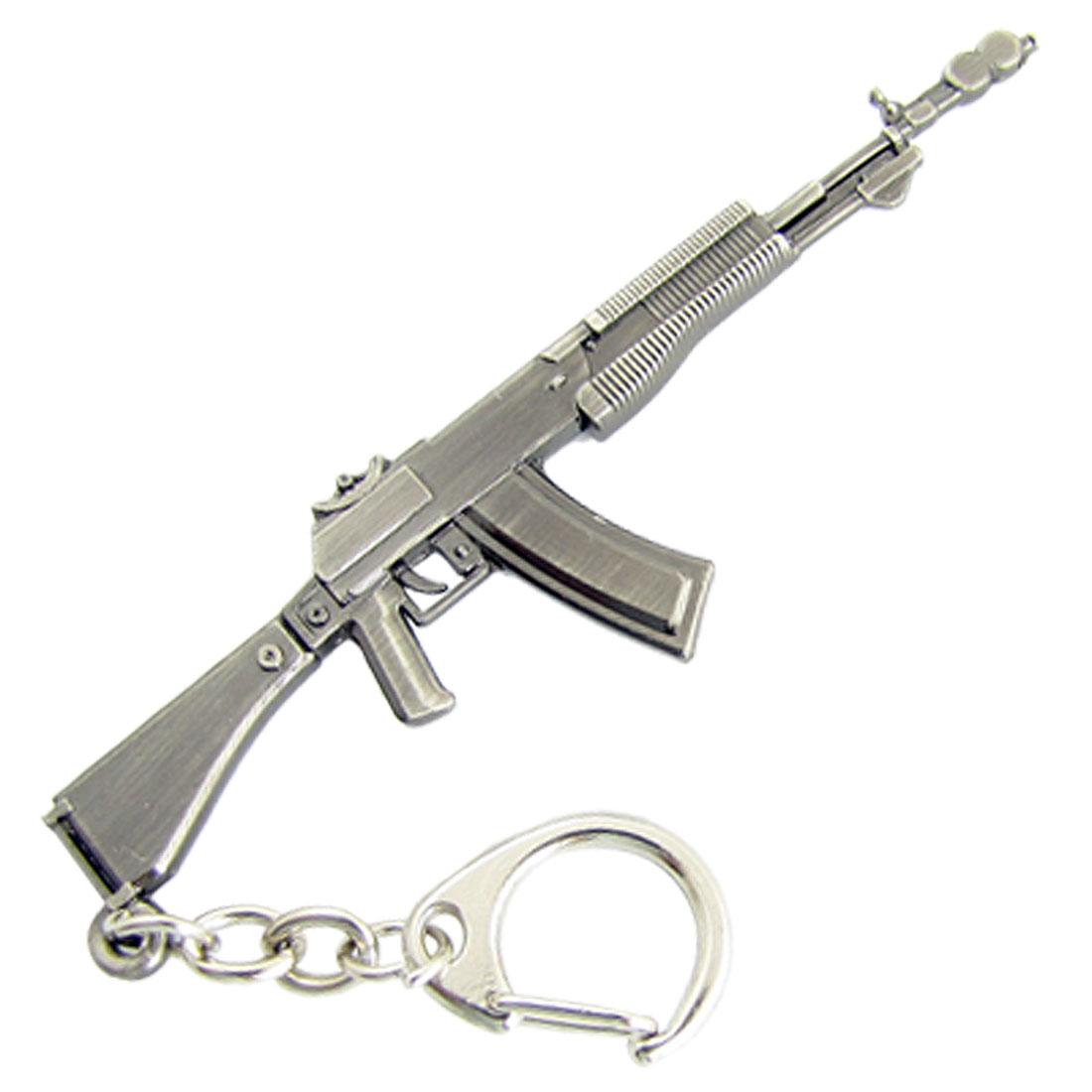 Flint Gray AN94 Assault Rifle Model Metal Keyring Pendant