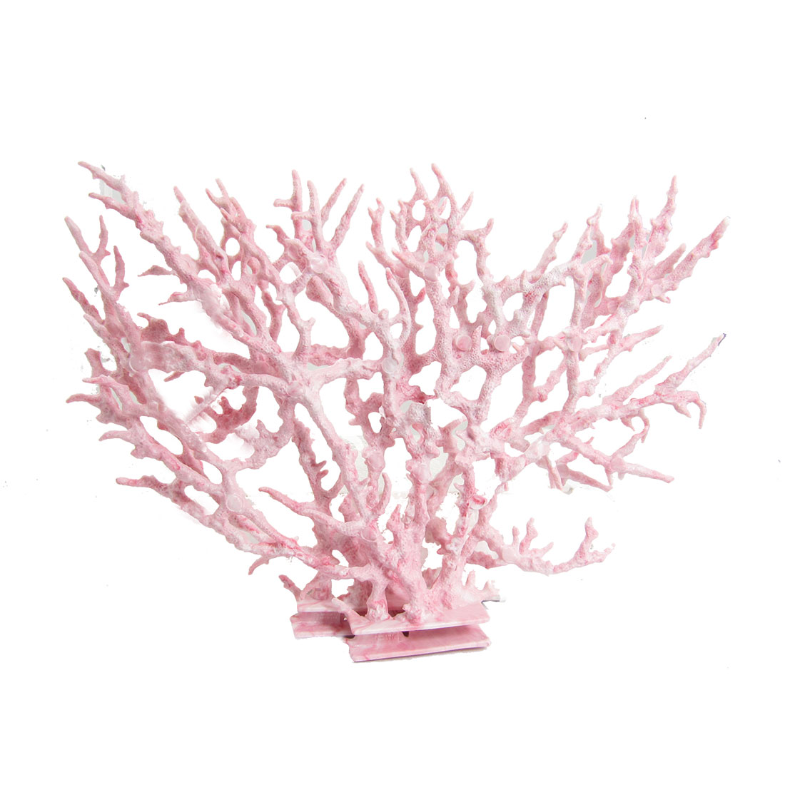 "7.5"" Pink Plastic 2 Pcs Coral Shape Decoration for Fish Tank"