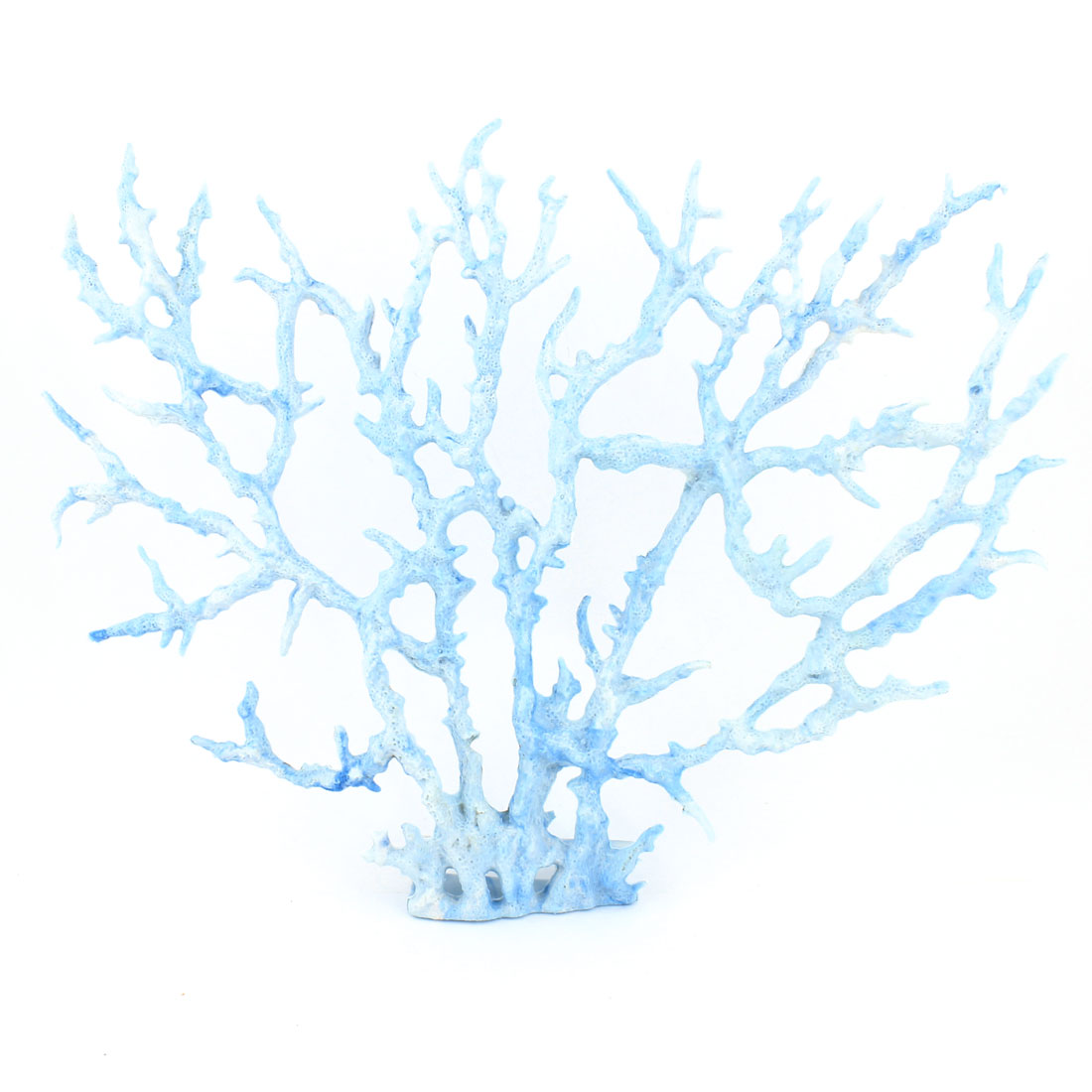 Decorative Ornament Plastic Artificial Coral Plant Blue 2 Pcs for Aquarium
