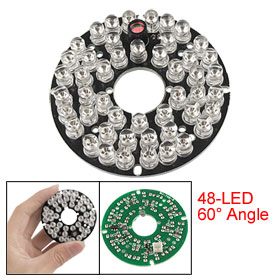 60 Degree 5mm 48-LED Bulbs IR Infrared Board for CCTV Camera