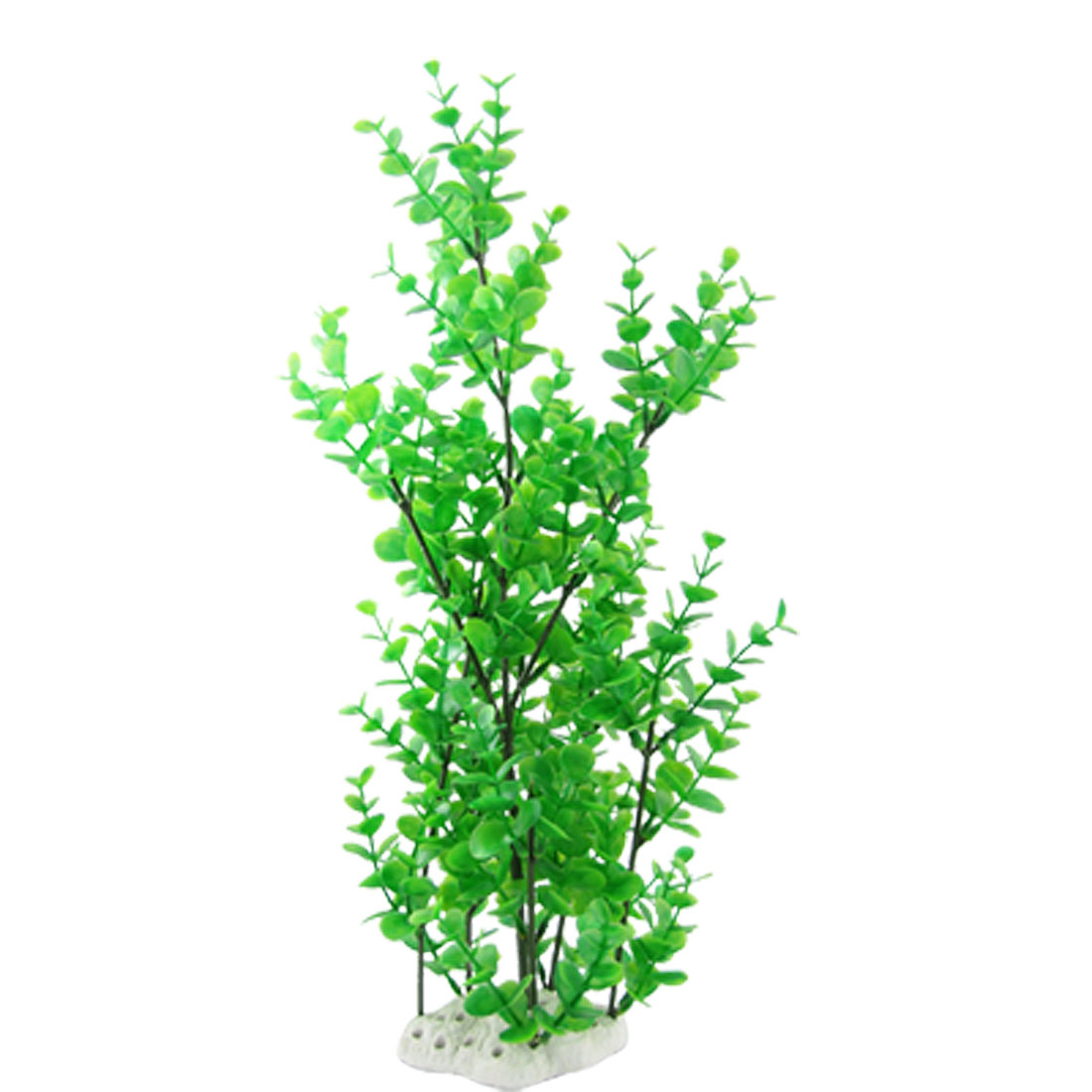 Fish Tank Aquascaping Green Round Leaves Plastic Plant Ornament