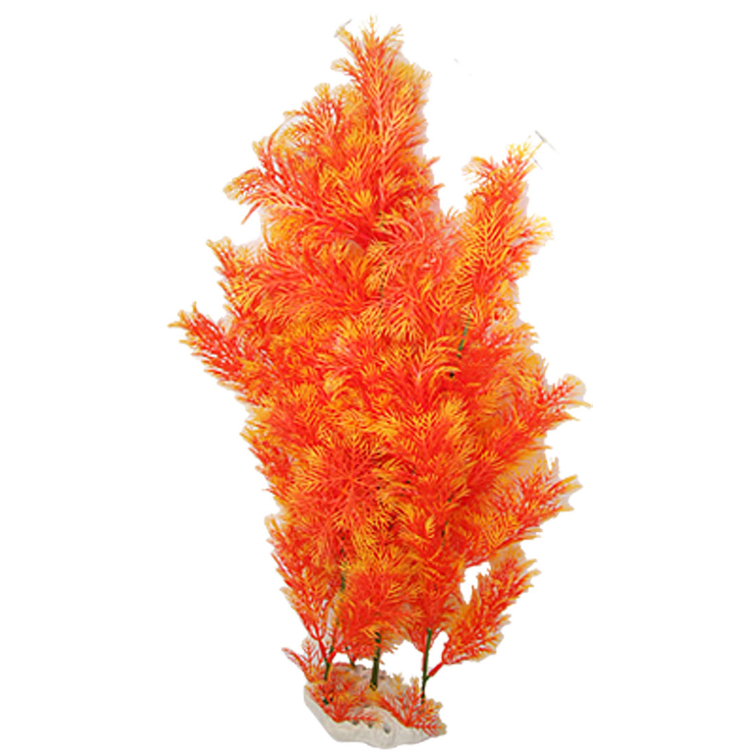 "21"" Orange Aquascaping Water Grass Fish Tank Aquarium Ornament"