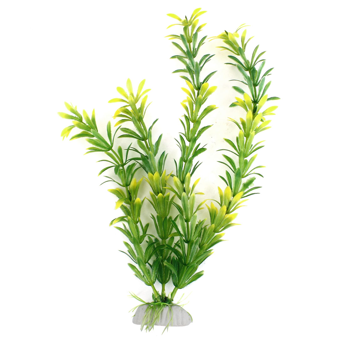 Green Yellow Artificial Plastic Grass Decoration for Aquarium