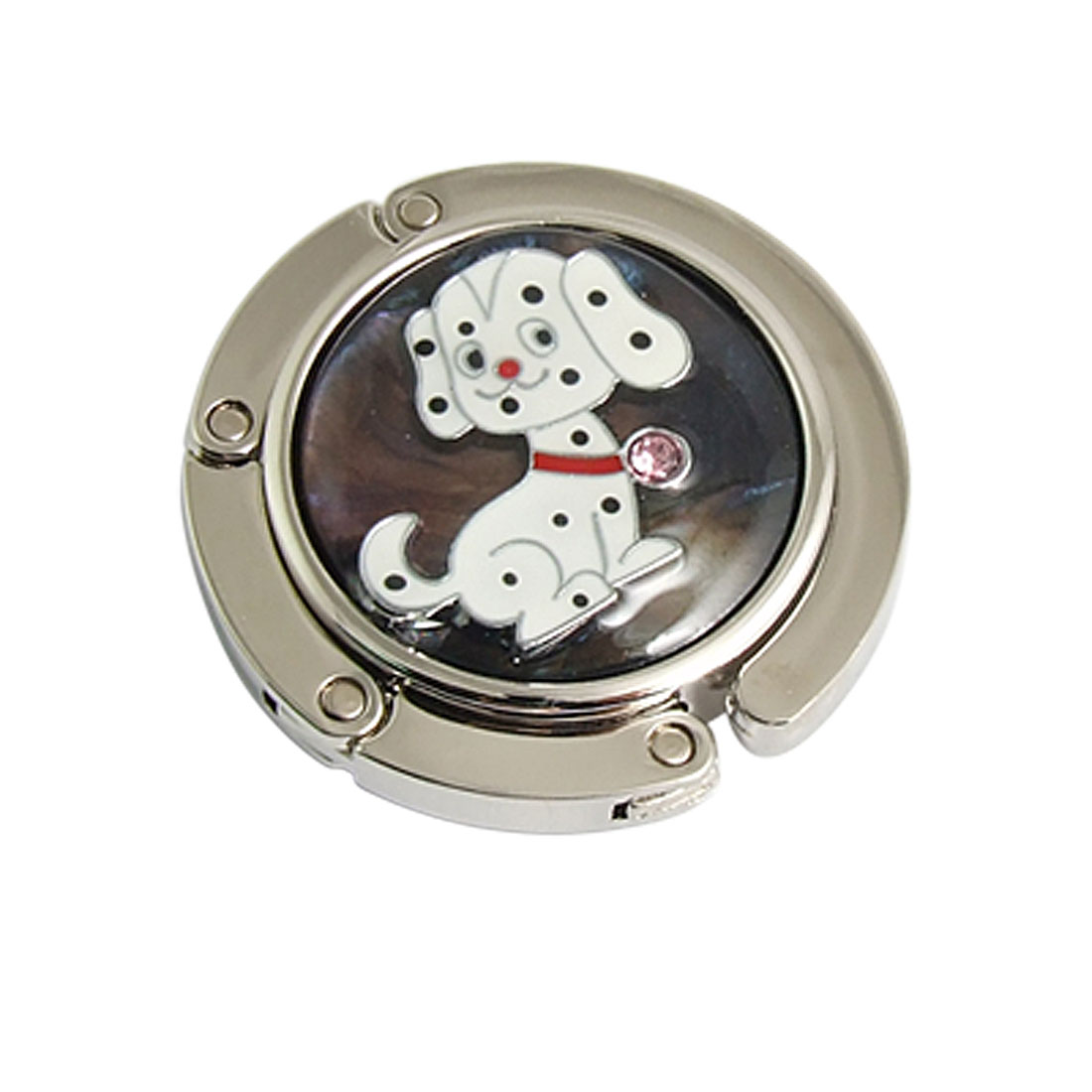 Round Shaped Dog Accent Magnetic Folding Handbag Hook