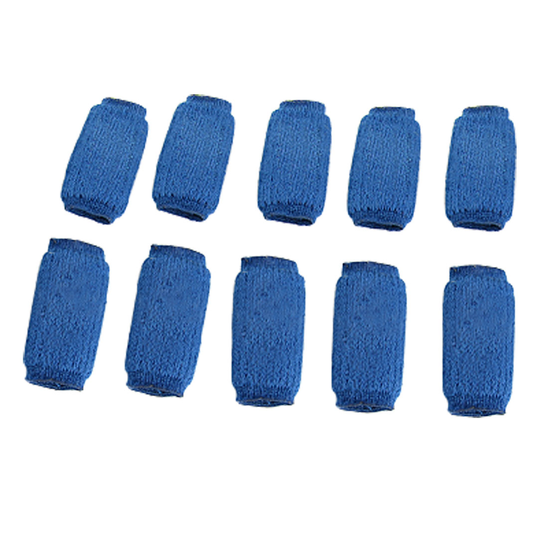 10 Pcs Volleyball Elastic Blue Finger Sleeve Protector