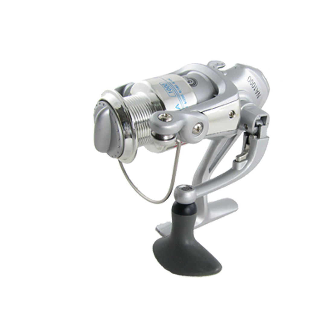 Silver Tone Fishing Spinning Reel Roller Bearing Gear Ratio 5.1:1