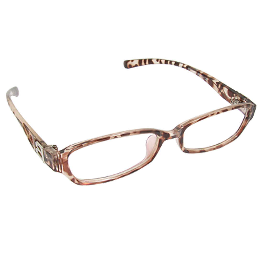 Leopard Prints Plastic Frame Clear Lens Plano Glasses for Lady