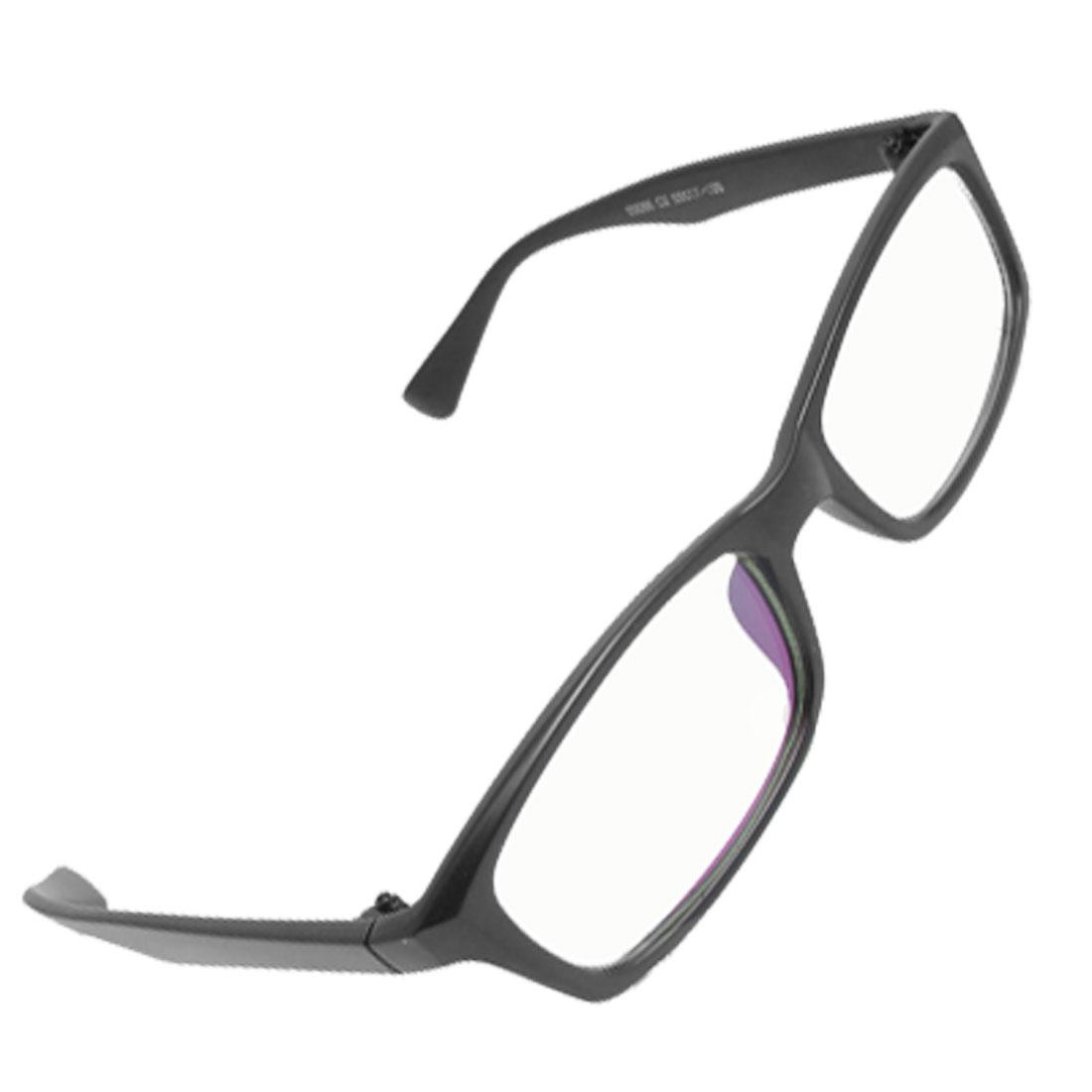 Black Rubberized Plastic Full Rim Clear Lens Plano Glasses Unisex 93086