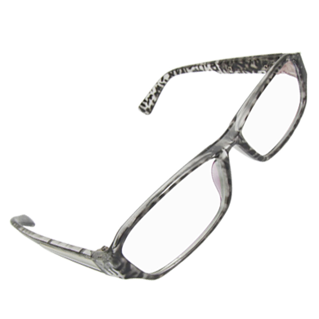 Leopard Print Full Frame Metal Detailing Lady Plain Glasses