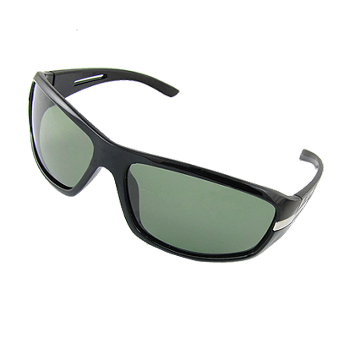 Men Black Crocodile Print Arms Full Rim Polarized Sunglasses