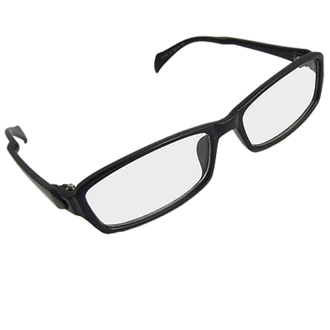 Black Arms Full Rim Rectangle Lens Plano Glasses for Ladies