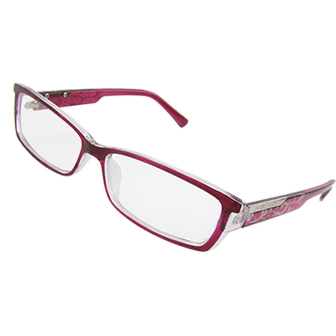 Ladies Sangria Full Frame Rectangle Multi Coated Lens Plain Glasses Spectacles