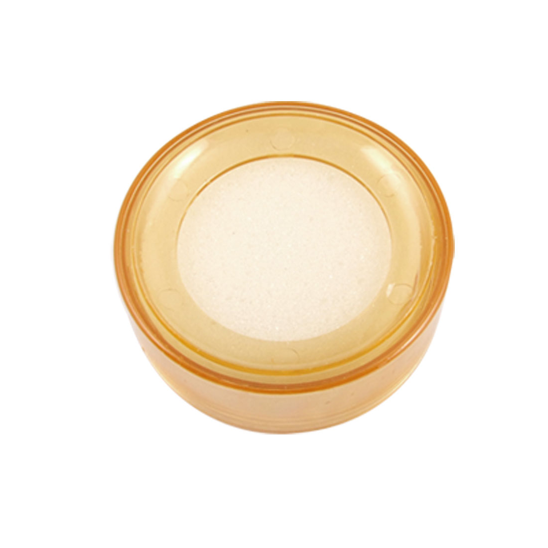 Clear Yellow Round Case Finger Wet Sponge for Casher