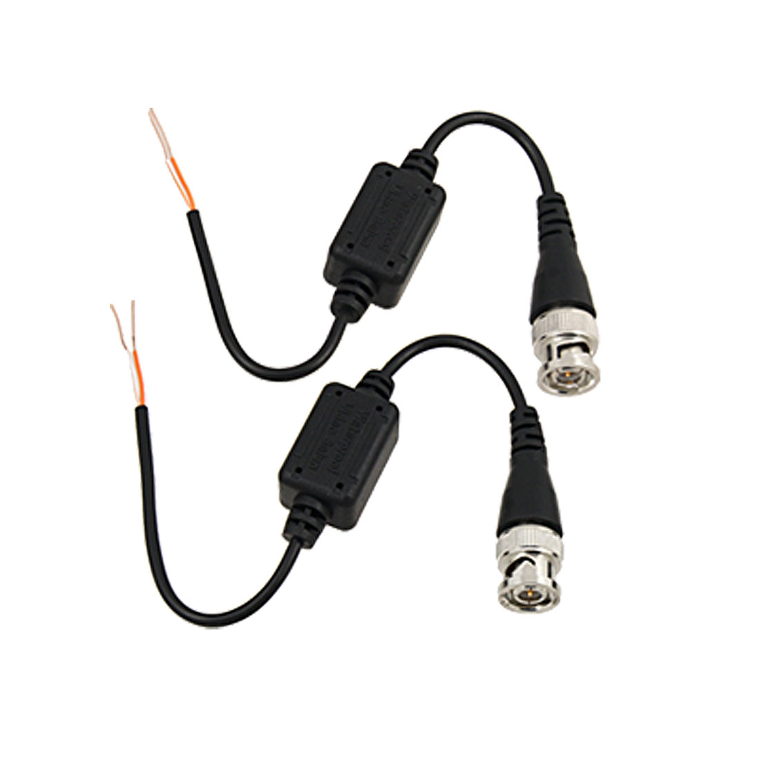 2 x 1Ch CCTV Security Camera Passive Waterproof Video Balun Transceiver