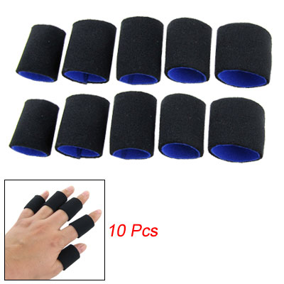 10 Pcs Black Neoprene Finger Sleeve Protector