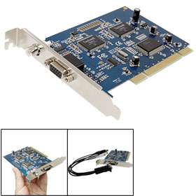 4 Channels Video Audio Synchronization Recording DVR Card