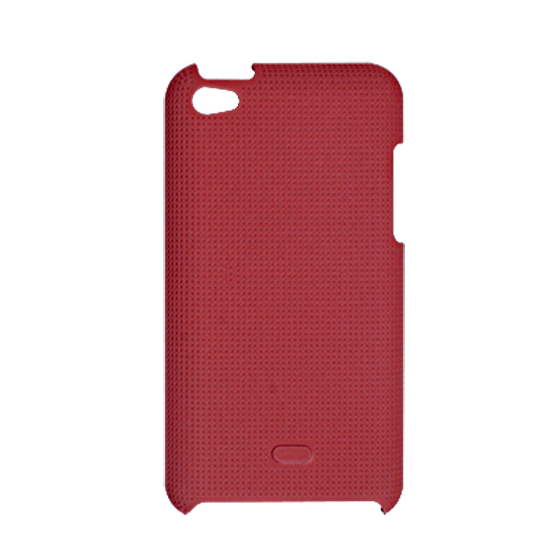 Rubberized Hard Plastic Back Case Red for iPod Touch 4G