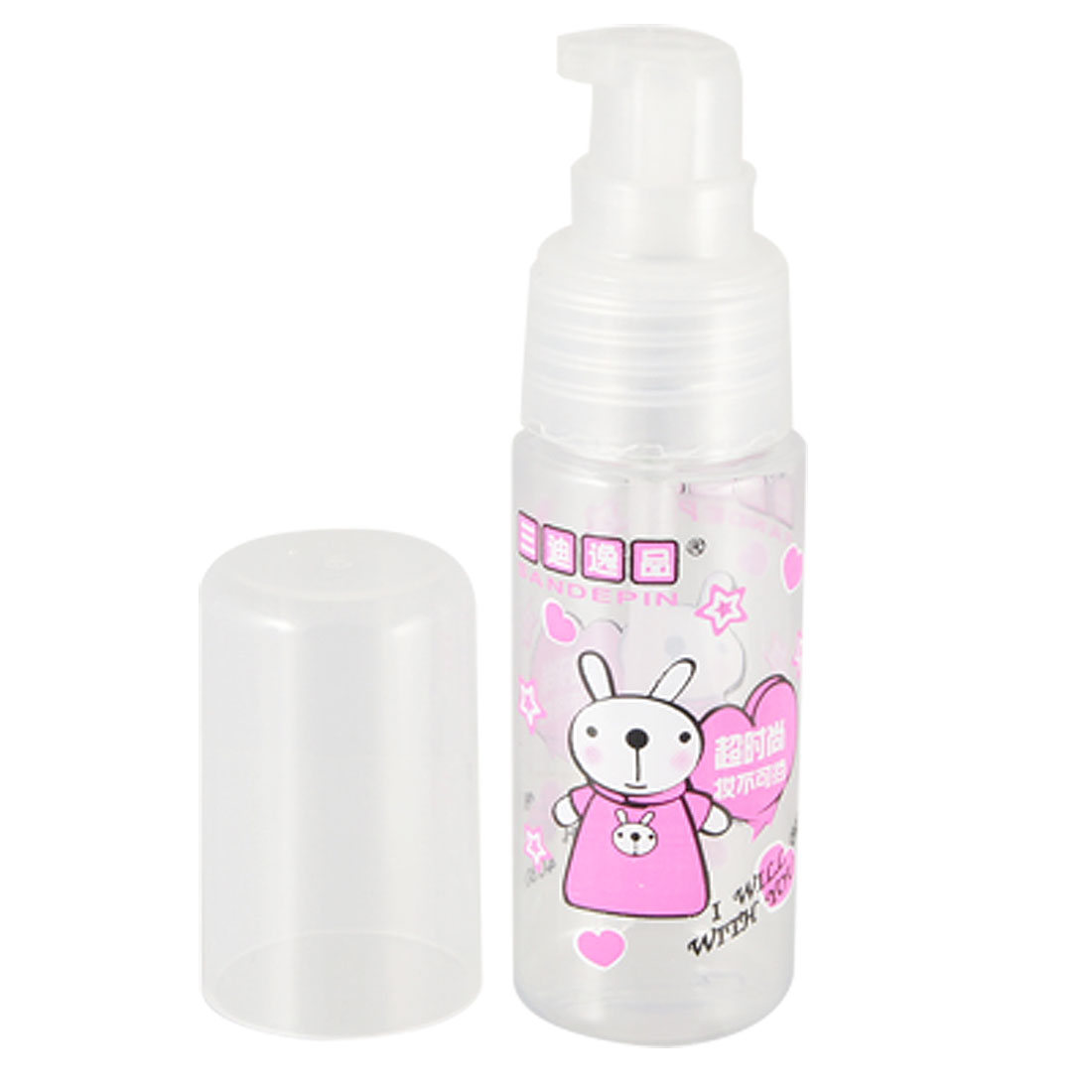 Clear White Plastic Make Up Empty Spray Bottle Container