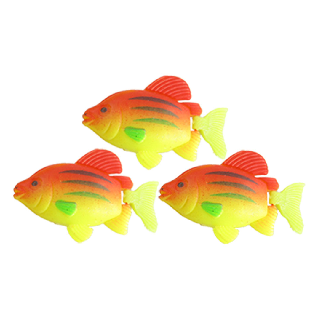 3 Pcs Three Colors Plastic Floating Fish Aquarium Decoration