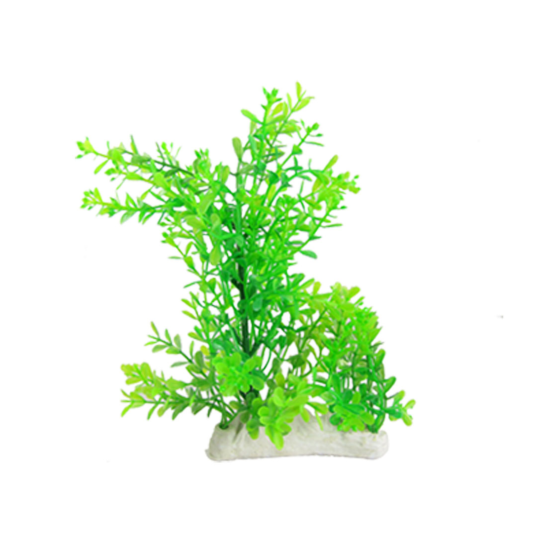Fish Tank Plastic Green Water Grass Ceramic Base Decoration
