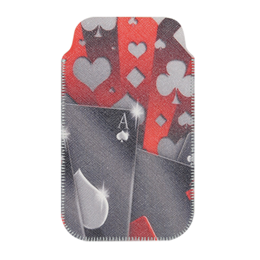 Spade Heart Print Nonslip Faux Leather Sleeve for iPhone 3G 3GS