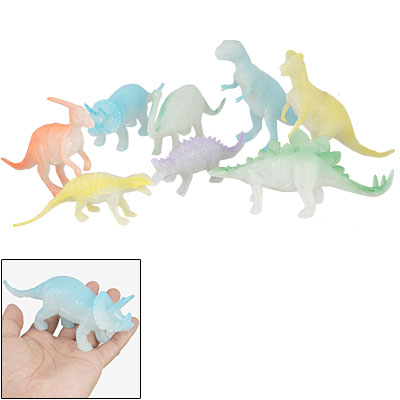 8 Pcs Colorful Artificial Plastic Dinosaur Toy for Children