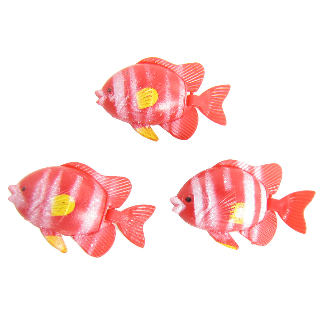 3 Pcs Flexible Tail Plastic Fish for Aquarium Fish Tank Oranment